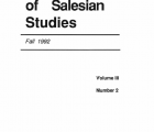 Journal Salesian Studies Volume 3 Issue 2