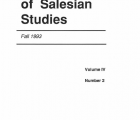 Journal Salesian Studies Volume 4 Issue 2