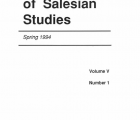 Journal Salesian Studies Volume 5 Issue 1