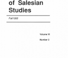 Journal Salesian Studies Volume 6 Issue 2