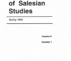 Journal Salesian Studies Volume 10 Issue 1