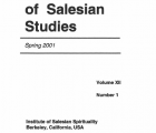 Journal Salesian Studies Volume 12 Issue 1