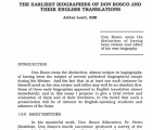 The Earliest Biographies of Don Bosco and Their English Translations