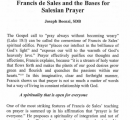 Francis de Sales and the Bases for Salesian Prayer