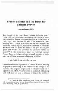 Boenzi-Francis_de_Sales_and_the_Bases_for_Salesian_Prayer-Journal_Salesian_Studies-Vol14-Fall2006