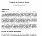 Salesian Mysticism: Towards the Ecstasy of Action