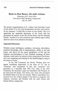 Hon-Response_to_Arthur_Lentis_Da_Mihi_Animas_in_Don_Bosco-Don_Boscos_Life_and_Work_for_the_Salvation_of_Souls-Journal_Salesian_Studies-Vol15-Fall2007