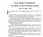 Early Salesian Regulations Formation in the Preventive System