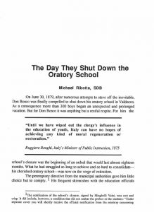 Ribotta-The_Day_They_Shut_Down_the_Oratory_School-Journal_Salesian_Studies-Vol02_No1-Spring1991