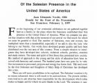 Centennial Celebration of the Salesian Presence in the United States of America (San Francisco, February 2, 1997)
