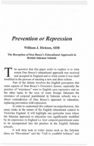 Dickson-Prevention_or_Repression-The_Reception_of_Don_Bosco's_Educational_Approach_in_British_Salesian_Schools-Journal_Salesian_Studies-Vol14-Fall2006