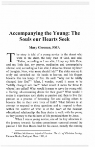 Greenan-Accompanying_the_Young-The_Souls_Our_Hearts_Seek-Journal_Salesian_Studies-Vol14-Fall2006