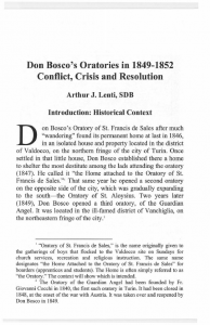 Lenti-Don_Bosco's_Oratories_in_1849_1852-Conflict_Crisis_and_Resolution-Journal_Salesian_Studies-Vol14-Fall2006